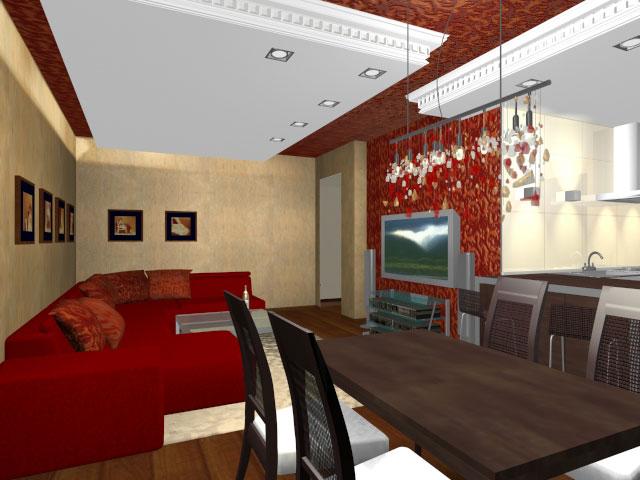 Дизайн квартиры 51 кв м