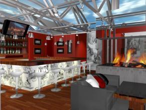 Оформление и проект дизайна интерьера кафе.